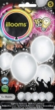 ILLOOMS 5er LED Ballon Weiss