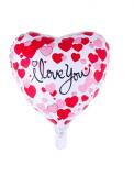 Folienballon Herz Aufdruck:I love you 45cm