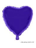 Folienballon: Herzform, purple, 52*46 cm
