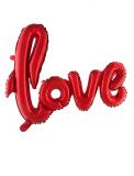 Folienballon: Schriftzug, love, rot,